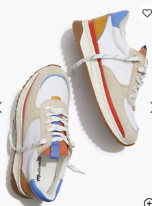 Madewell sneakers in recycled nylon, suede and leather style # MA504 SZ 7