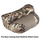 Pro Casting Seat Camo Bass Boat Fishing Hunting Lean BackRealtree Max-5