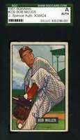Bob Miller Jsa Coa Autographed Phillies 1951 Bowman Authentic Hand Signed