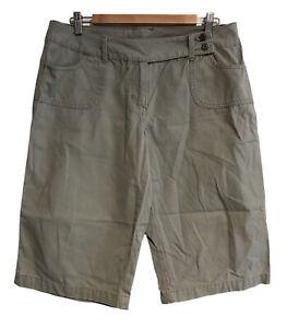 TARGET Ladies Size 14 Khaki Green 4-Pocket Cotton Bermuda Long Shorts (VGC)