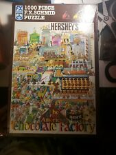 """Fx Schmid Jigsaw Puzzle """"Great American Chocolate Factory"""" 1000 pcs-Complete"""