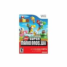 New Super Mario Bros With Manual And Case  For Wii And Wii U Very Good 8Z