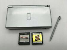 Nintendo DS Lite Console Silver + stylus pen + 2Games mario Japan Import #327