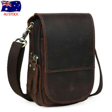 Vintage Men's Leather Bum Belt Waist Fanny Bag Pouch Pack Shoulder Messenger Bag
