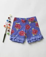 New Matilda Jane Size 12 Months Paint By Numbers BARNYARD Purple Floral Shorties