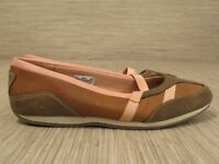 Timberland Brown Pink Leather Shoes Women's Size US 8 M Slip-On Elastic Flats