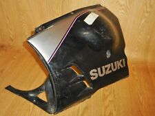 SUZUKI GSXR750-M OEM LOWER LEFT LOWER BELLYPAN FAIRING PANEL & V-PIECE 1991