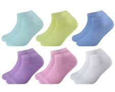 12 Pairs Womens Plain Ankle Socks Ladies Trainer Polyester Sports Liner Sneaker