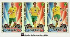 2011-12 Match Attax EPL Soccer Man Of Match Foil Card Team Set (3)-Norwich City