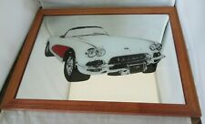 Man Cave Mirror 1958 Chevrolet Corvette Wood Framed