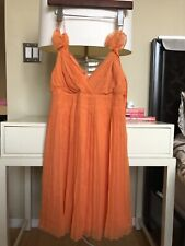 Club Monaco Coral Dress Silk  Size 2