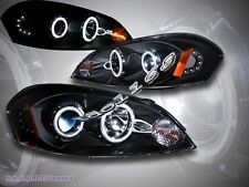2006-2013 Chevy Impala/ 06-07 Monte Carlo Black CCFL Halo Projector Headlights