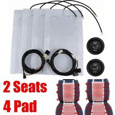2 Seats Universal Car Carbon Fiber Heated Seat Heater Kit High-Low Switch 12V