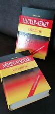 Wörterbücher Magyar-Nemet, Nemet - Magyar  Akademie Kiado Pecs, v. Kelemen Bela