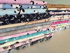 CLEARANCE 100% Cotton Fabrics **Flamingo Bee Map Candy Skull**