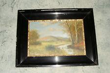 altes Ölbild / Öl-Malerei auf Leinwand / gerahmtes Landschaftsbild um 1920 sign.