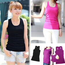 Fashion Women Sexy Sleeveless Solid Color Summer T-Shirt Basic Vest Tank Tops