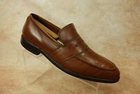 Allen Edmonds Iroquois Brown Leather Moc Toe Penny Loafers Mens Size 11 B USA