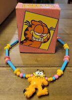 Vintage Garfield Necklace with Original Box!