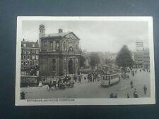 Nederland Ansichtkaart Rotterdam Delftsche Poortplein met tram verzonden 1928