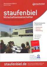 WIRTSCHAFTSWISSENSCHAFTLER * DAS KARRIERE-HANDBUCH FÜR ABSOLVENTEN * STAUFENBIEL