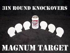 3 Inch Round Knockovers - 3/8in. Thk. - 6pc. set - Steel Target Shooting