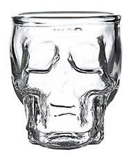 Gothic Halloween Novelty Shot Death Skull Glass 90ml Set of 4 Dishwasher Safe