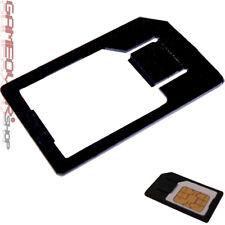 1x MicroSim Adapter Halterung Schwarz für Handy Karte Card Micro Sim Klick