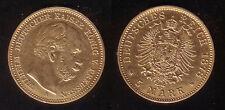 5 Mark Gold Preussen 1878 A !