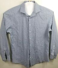 Nordstrom shirt long sleev Plaid Button Front Trim Fit  Size 16.5