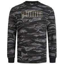 PUMA Camo Crew Fleece Herren Pullover Sport Sweatshirt 855053-51 grau neu
