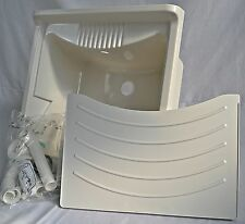 Negrari 6007SK - Spülbecken Waschbecken Weiß, 60 x 60 x 85H cm (SB23)