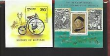 Tanzania sc#985p,993 (1992) Souvenir Sheets MNH
