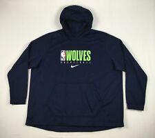 NEW Nike Minnesota Timberwolves - Men's Navy Dri-Fit Sweatshirt (4XLT)