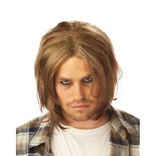 Kurt Cobain Wig Nirvana Grunge Adult Mens Costume Hair 90's Music Blonde