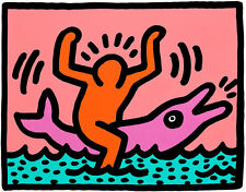 Pop Shop V portfolio of 3 by Keith Haring A2+ High Quality Canvas Art Print