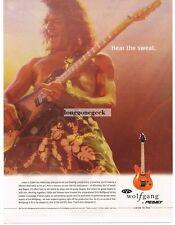 2002 PEAVEY EVH Wolfgang Electric Guitar EDDIE VAN HALEN Vtg Print Ad