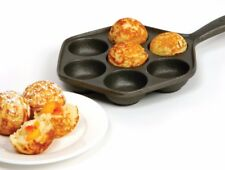 Norpro 3114 Deluxe Danish Aebleskiver Cast Iron Pan - Makes 7 Filled Pastries