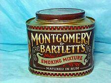 TOBBCCO TIN Montgomery & Bartlett's Smoking Mixture MATURED IN RUM -ENGLAND MADE