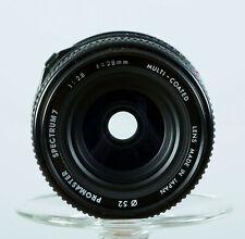 Mint Promaster 28mm f2.8 Spectrum 7 Multi-Coated Wide Lens 28/2.8 Minolta MD/SR