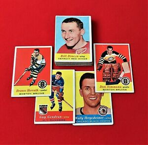 Horvath/Dineen/Mohns - 1957/58 - Topps - NHL - Lot of 16 Different Cards