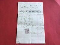 B. Handforth 1882 Family Grocer & Corn Dealer  receipt R34550
