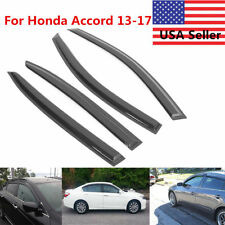 For 2013-2017  Honda Accord 4Door Sedan Black Side Window Visors Vent Deflectors