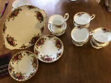 ROYAL ALBERT OLD COUNTRY ROSES 21 Pce TEA SET excellent condition