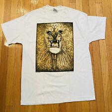 Vtg Deadstock Lee Conklin Lion Print Tshirt Single Stitch USA
