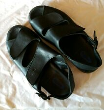 Wolky Nimes Shoes Womens Sz 36 US 5.5 - 6 Black Leather Straps Slingback Sandals