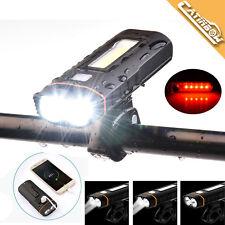 6000LM LED Fahrradlampe Set LED Fahrradbeleuchtung COB Rücklicht +2x18650+USB DE