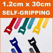 10pcs 1.2x30cm Strap Hook Loop Fastener Self Gripping Camping Caravan Hiking