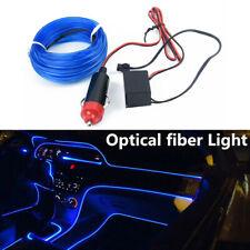 4M 12V Blue Car LED EL Wire Light Strip Interior Atmosphere Glow Neon Lamp Decor