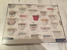 Set of Six Pimpernel tea cup patterned placemats **NEW**